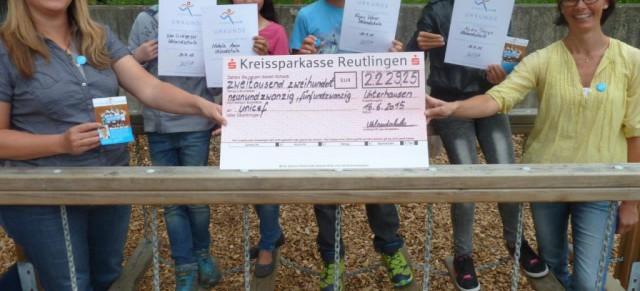 Schülerinnen und Schüler erliefen eine Spendensumme von über 2.000€