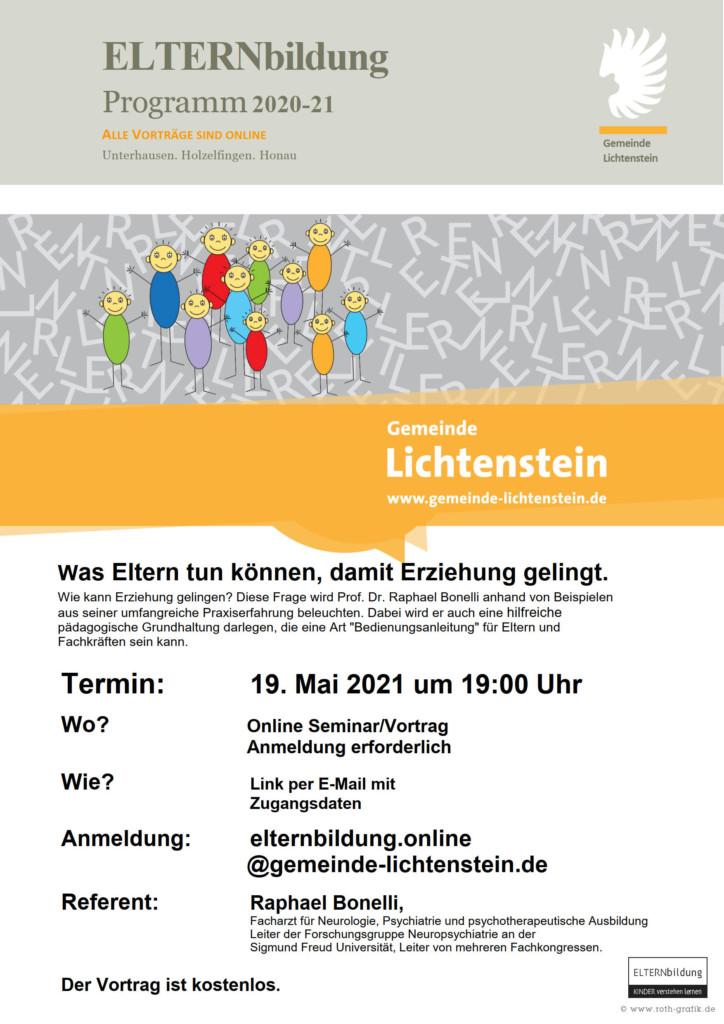 Veranstaltung ELTERNbildung am 19.Mai 2021